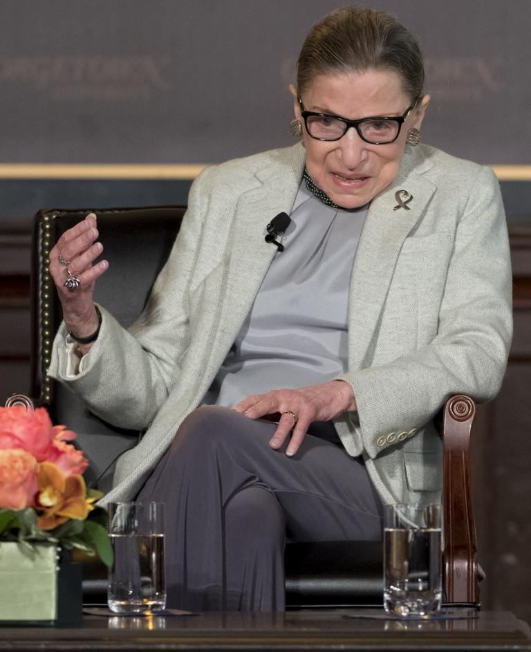Ruth Bader Ginsburg praises Brett Kavanaugh as very decent man