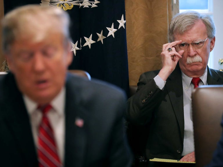 Let me guess, you want to nuke them all: Trump constantly baiting John Bolton in front of officials, report says