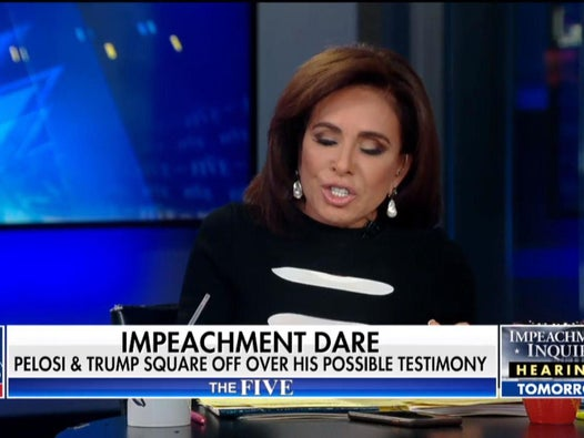 Do not go there!: Fox News hosts shout at each other in furious on-air row over Trump impeachment