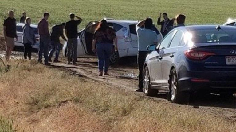 Dozens of drivers get stuck in mud after Google reroutes them down dirt road