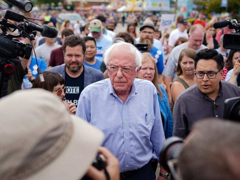 Bernie Sanders takes victory lap at Iowa State Fair Soapbox, claiming credit for 2020 progressive strain