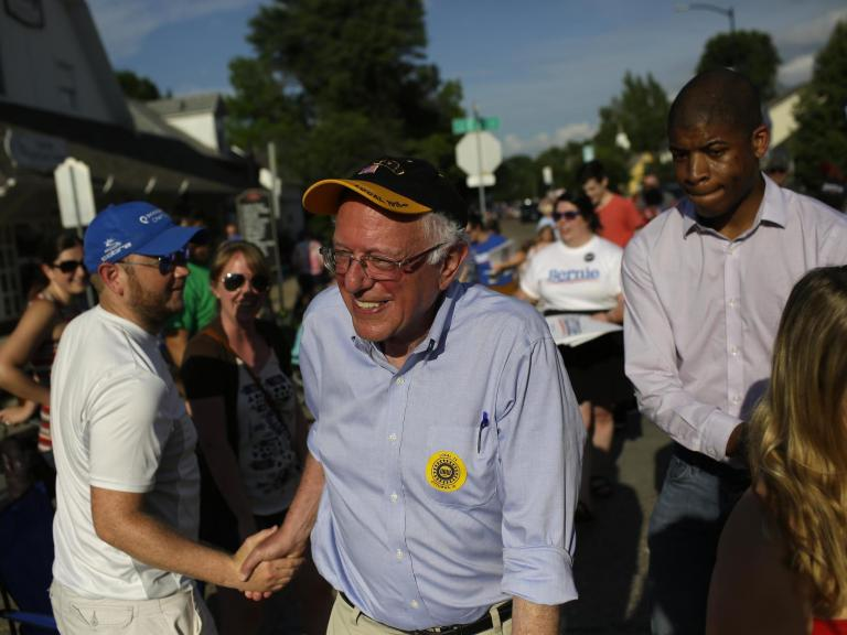 How Bernie Sanders is trying to walk the fine line between warring Democrats, split Republicans and a divided America