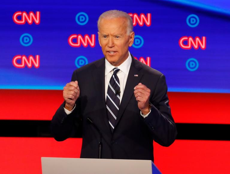 Democratic debate: Joe Biden gaffe sends viewers to spoof website supporting Pete Buttigieg