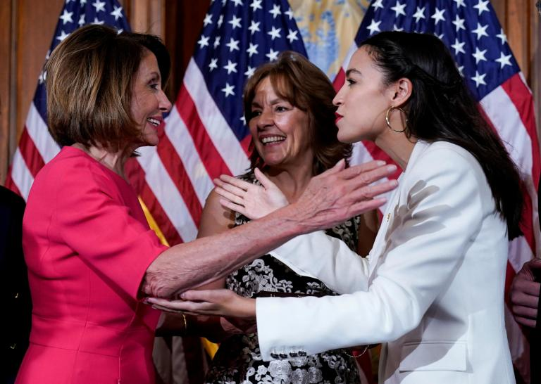 Nancy Pelosi and Alexandria Ocasio-Cortez meet to 'get on same page' after party infighting