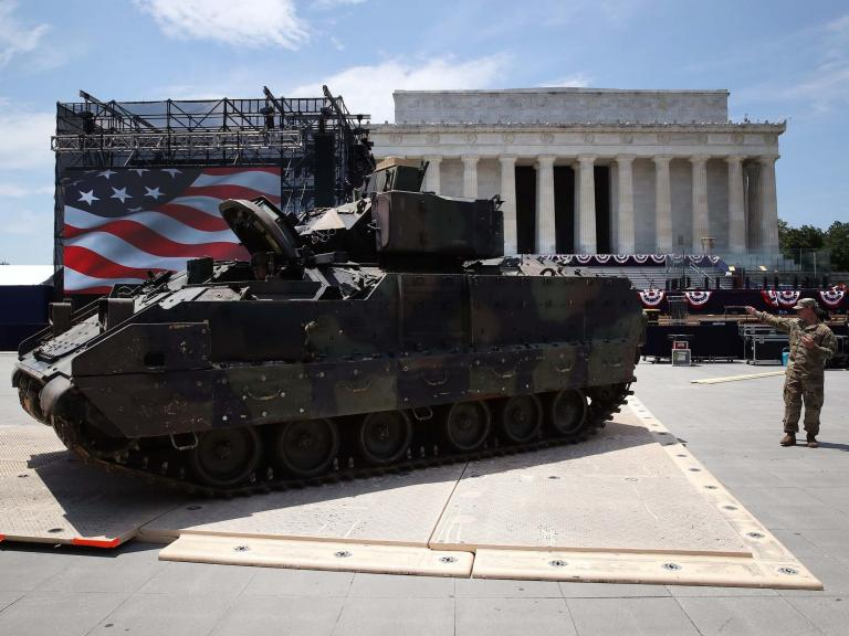 Trump dismisses fears his tanks will damage Lincoln Memorial during Salute to America parade