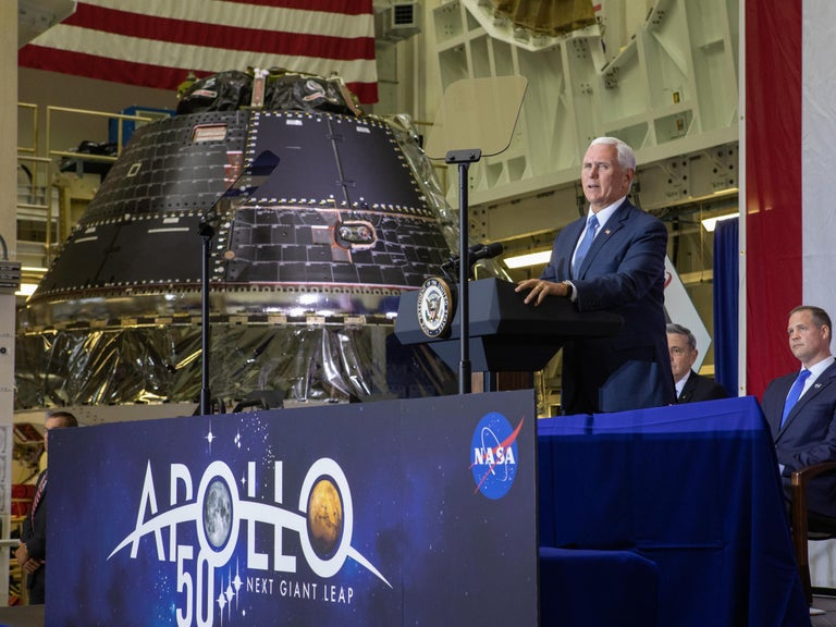 Crew capsule designed to take US astronauts back to moon completed