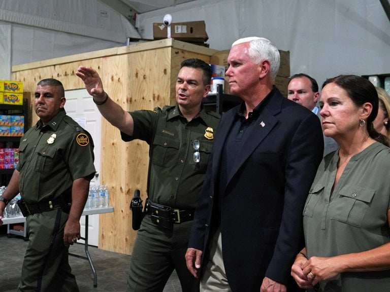 'Theyre well cared for': Mike Pence defends Trump administration's treatment of migrants on tour of detention centres