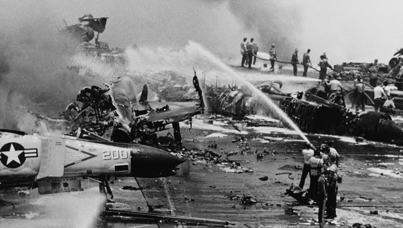 How a Tragic Fire Nearly Destroyed a U.S. Navy Aircraft Carrier
