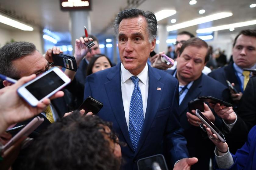 Mitt Romney asks impeachment lawyers exactly when and why Trump froze Ukraine military aid