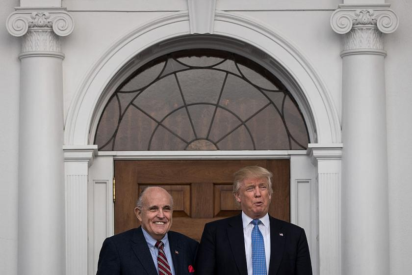Trump gushes about Giuliani: He is one of the great crime fighters in the history of our country