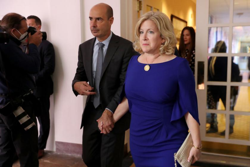 Labor Secretary Eugene Scalias wife, a recent White House guest, tests positive for COVID-19