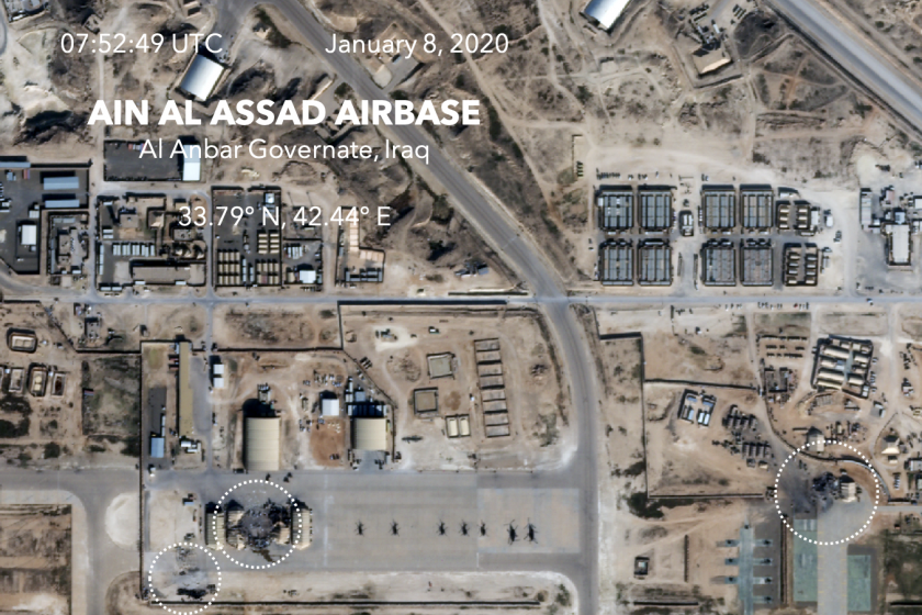 Satellite images of damage at U.S. base in Iraq may support theory Iran wasnt targeting people