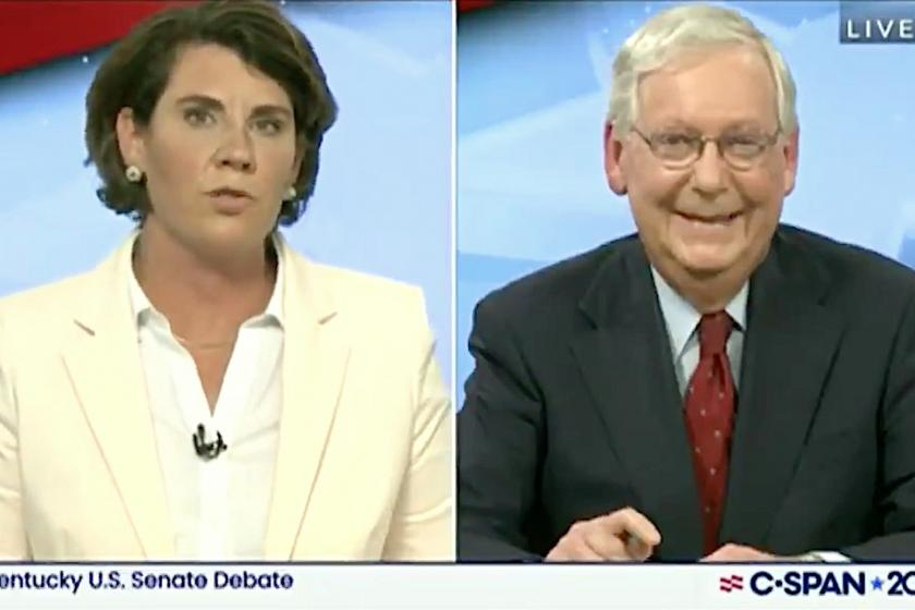 McConnell laughs in debate when challenger Amy McGrath slams his COVID stimulus dereliction