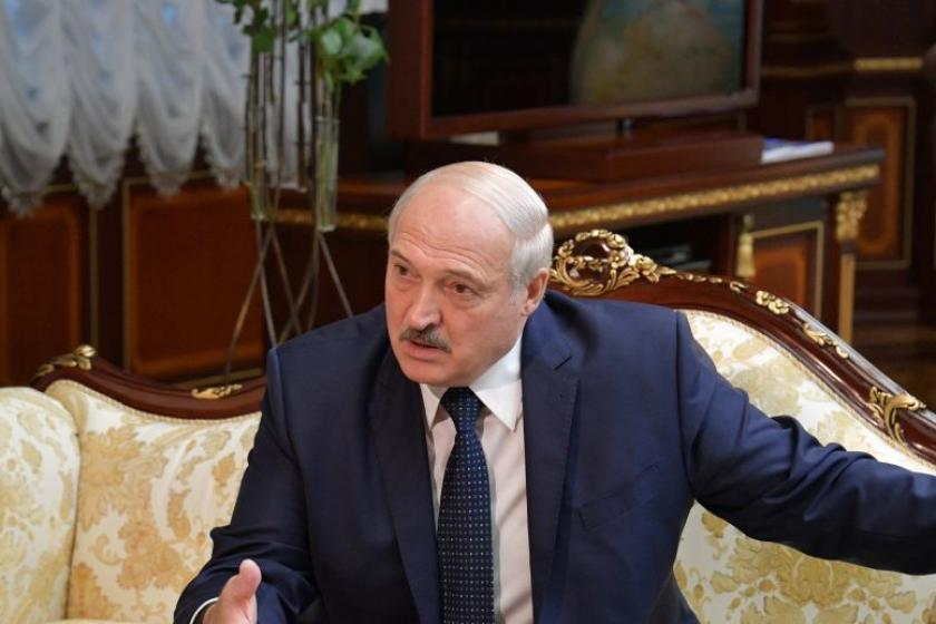 Lukashenko reportedly tells Russian TV the U.S. is orchestrating the Belarus protests