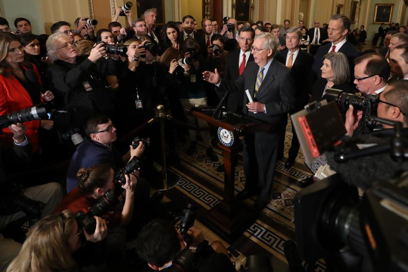 The Senate is preparing an unprecedented crackdown on Capitol reporters ahead of impeachment