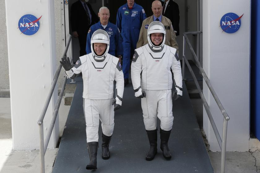 NASA and SpaceXs launch was postponed, but at least we got to see their wildly corny spacesuits