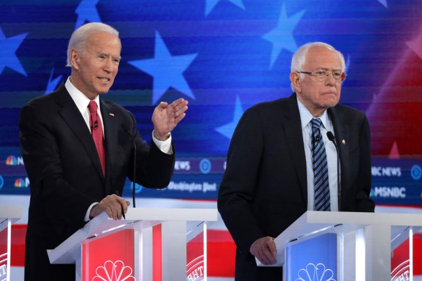 Joe Biden and Bernie Sanders polling numbers have barely moved in the past year