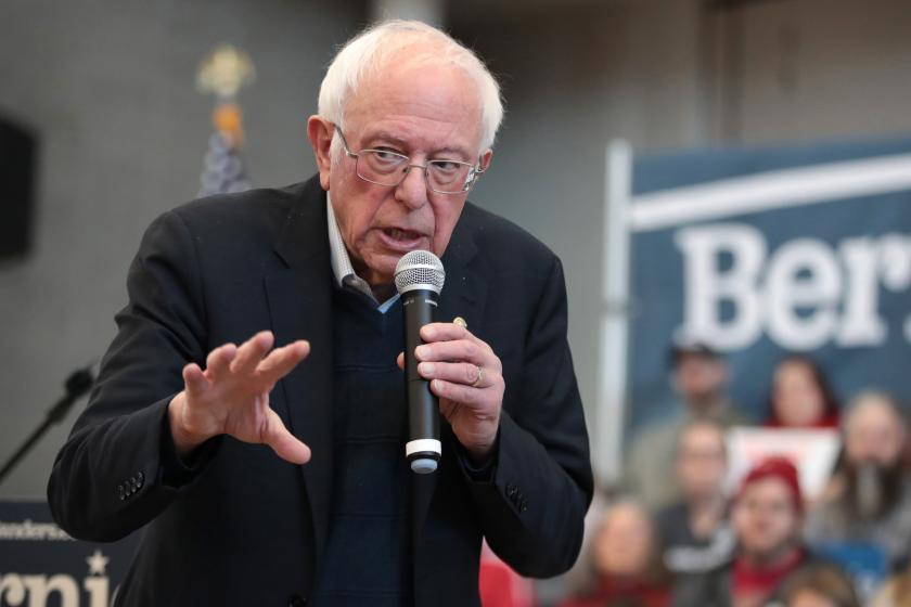 Bernie Sanders says his potential running mate will not be an old white guy
