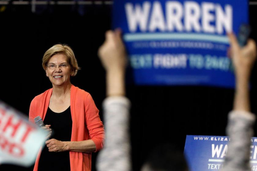 Elizabeth Warrens campaign says its fundraising dropped 30 percent from last quarter