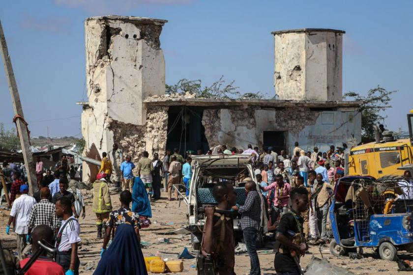 At least 90 reportedly killed in blast in Somalia