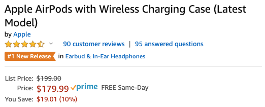The first big discount on AirPods 2 with Apple's wireless charging case is still available on Amazon
