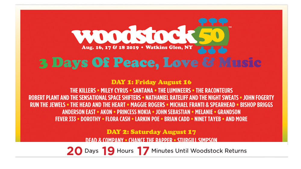 Woodstock 50 Officially Off