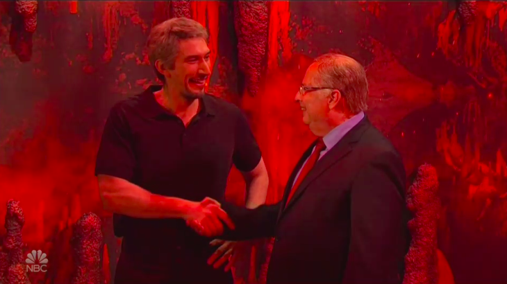 'Saturday Night Live': Adam Driver Plays Jeffrey Epstein in Hell With Jon Lovitz as Alan Dershowitz (Watch)