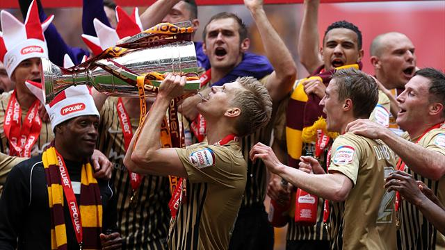 League Two - Bradford thrash Northampton in play-off final