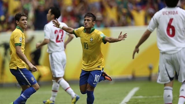 Confederations Cup - Neymar stars as Brazil beat Japan
