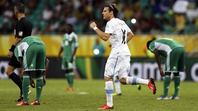 Confederations Cup - Forlan winner leaves Uruguay on cusp of last four