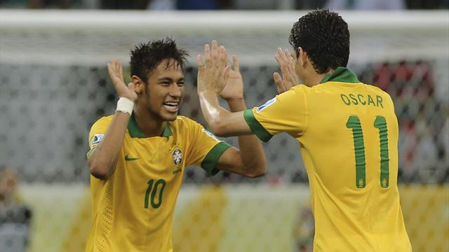 Confederations Cup - Neymar stars again as Brazil put four past Italy