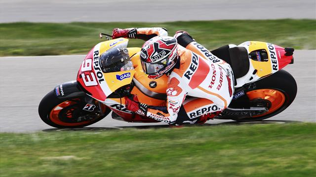 Indianapolis Grand Prix - Marquez on top again in practice two