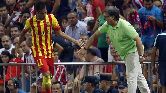 Liga - Neymar rescues Barca with debut competitive strike