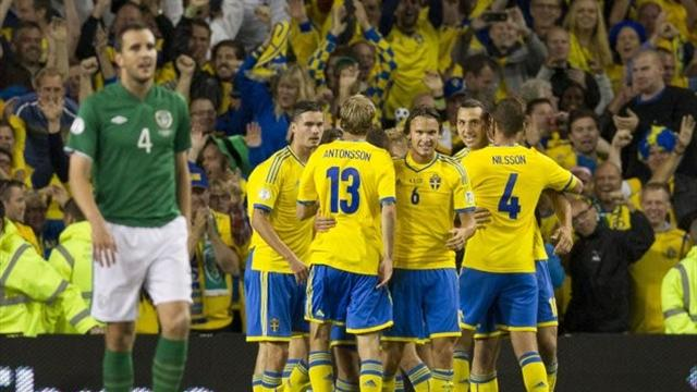 World Cup - Sweden come from behind to beat Ireland