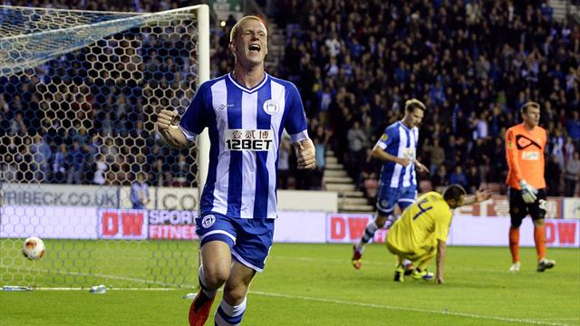 Europa League - Wigan mark home debut with stunning win