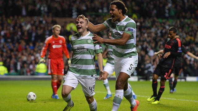 Champions League - Celtic keep last-16 hopes alive with win over Ajax