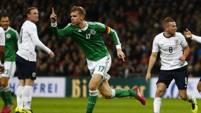 World Cup - Mertesacker header sinks England