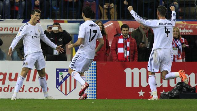 Liga - Real cruise past Atletico and into Copa final