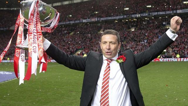 Scottish Football - Aberdeen win Scottish League Cup final on penalties