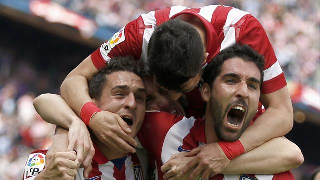 Liga - Atletico stay on course for surprise title