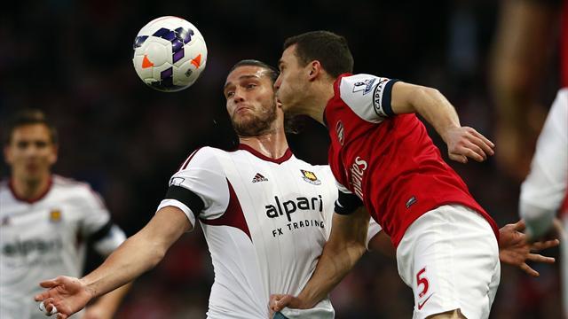 Premier League - Podolski double keeps Arsenal's top-four hopes alive