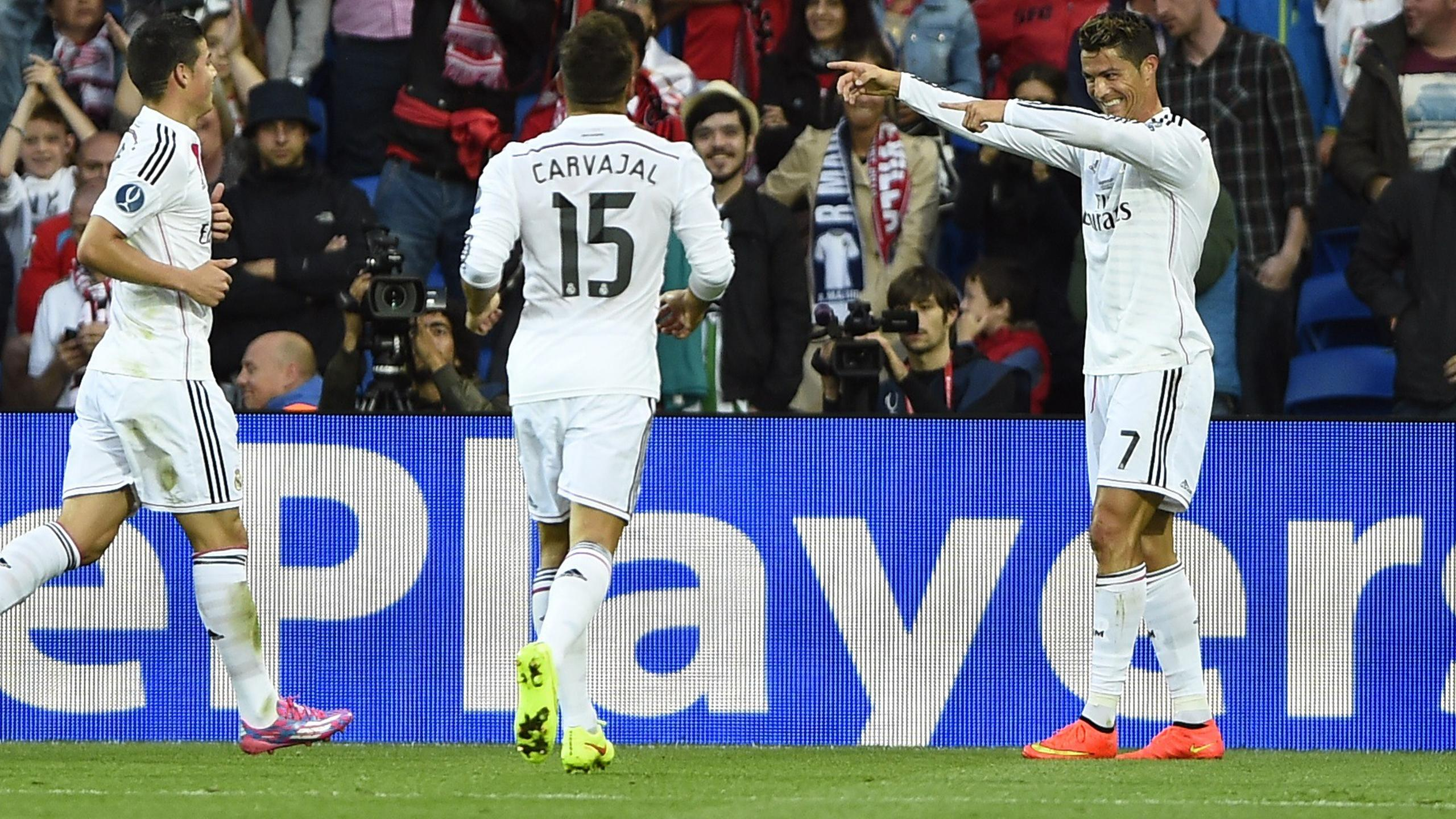 European Super Cup - Ronaldo double sees Madrid easily overcome Sevilla