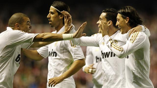Real Madrid win Liga title in Bilbao