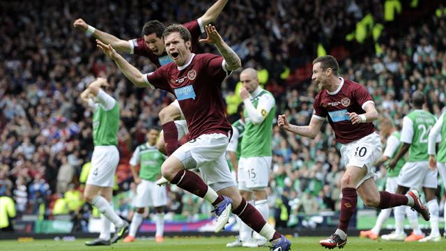 Hearts hammer Hibs in Cup final