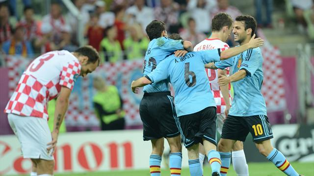 Spain end Croatia hopes to win group
