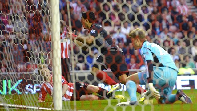 Suarez equalises as Liverpool draw at Sunderland