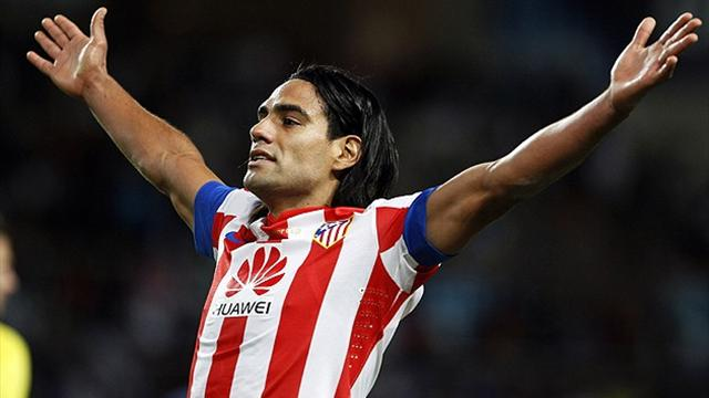 Falcao's late heroics in win over M�laga