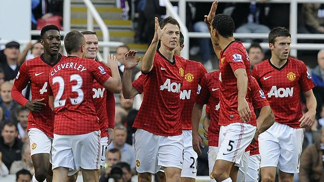 Evans and Evra on target as United go second