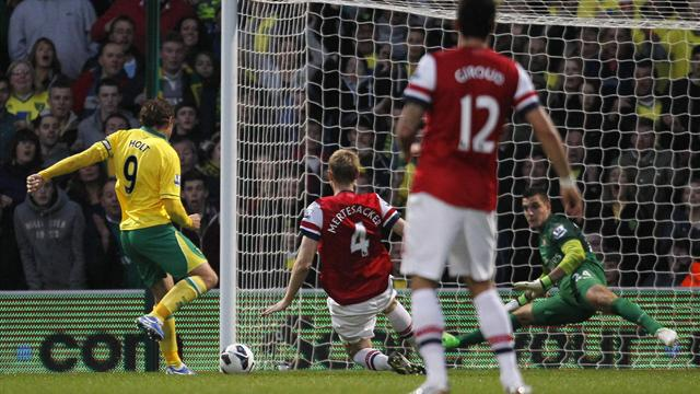 Premier League - Dire Arsenal suffer shock defeat at Norwich
