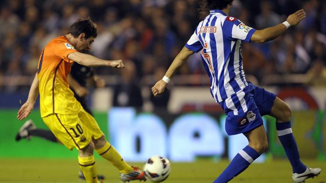 Liga: Messi treble thwarts rousing Deportivo fightback